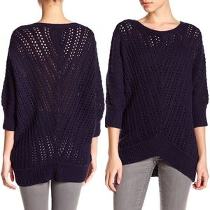Cupcakes and Cashmere 3/4 Dolman Open-Knit Sweater
